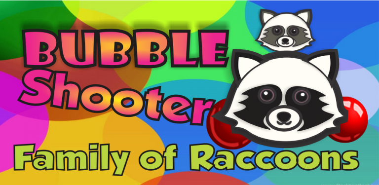 Bubble Shooter – Family of Raccoons