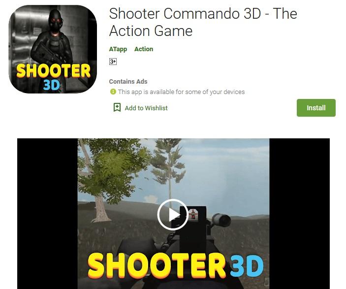 Shooter Commando 3D – The Action Game